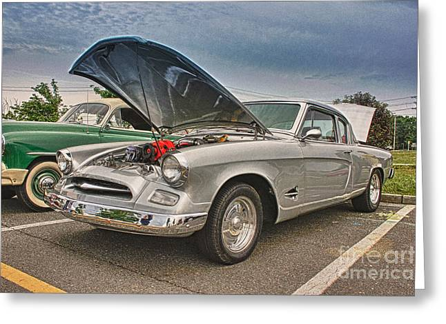 Hdr Photo Greeting Cards - HDR Studebaker Car Cars Cool Photos Pictures Photography Photo Picture Photograph Pics Classic New  Greeting Card by Pictures HDR