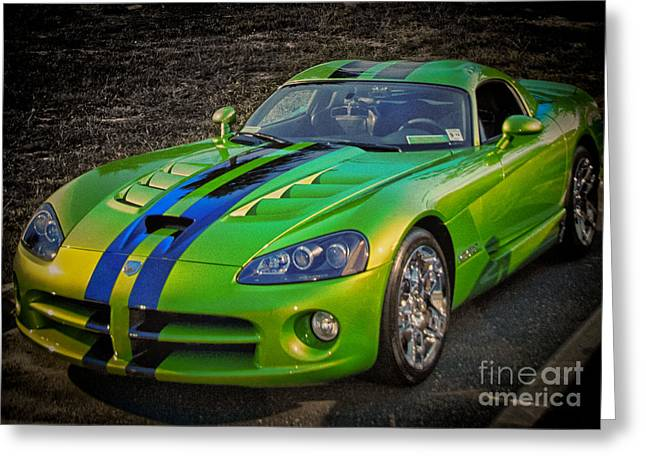 Buy Sell Photo Greeting Cards - HDR Viper Sports Car Cars Cool Photos Pictures Buy Sell Selling New Custom Exotic Muscle Auto Greeting Card by Pictures HDR
