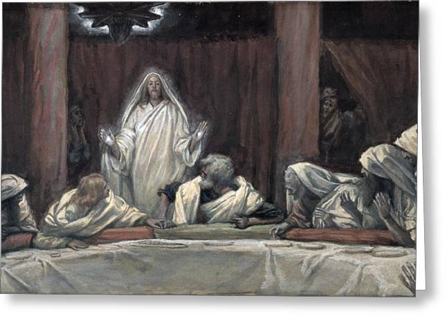 Resurrected Lord Greeting Cards - He Appeared to the Eleven Greeting Card by Tissot