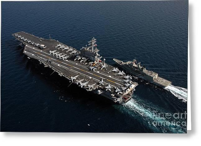 Royal Australian Navy Greeting Cards - He Royal Australian Navy Frigate Hmas Greeting Card by Stocktrek Images
