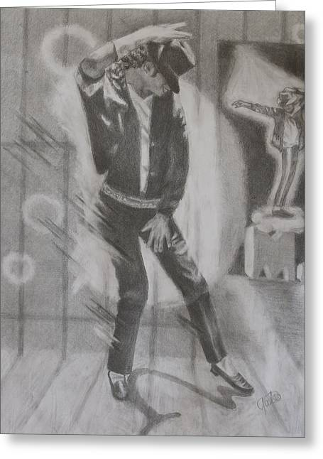 Famous Person Drawings Greeting Cards - He Still Dances Greeting Card by Joanna Gates