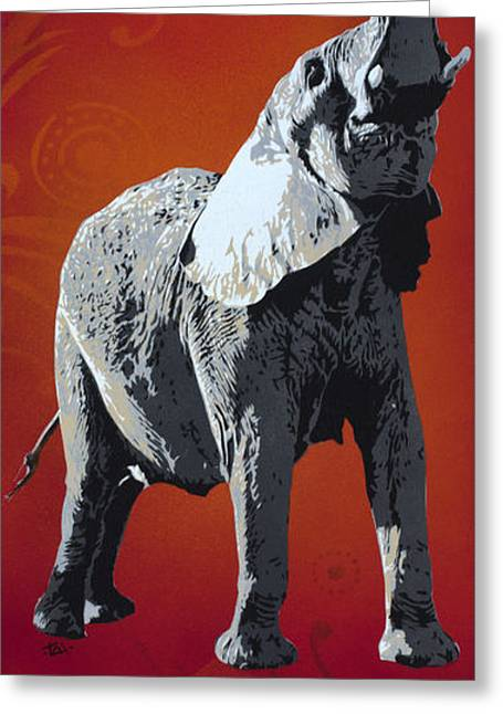 Stencil Spray Greeting Cards - He Who Goes Without Anguish. . . Greeting Card by Iosua Tai Taeoalii