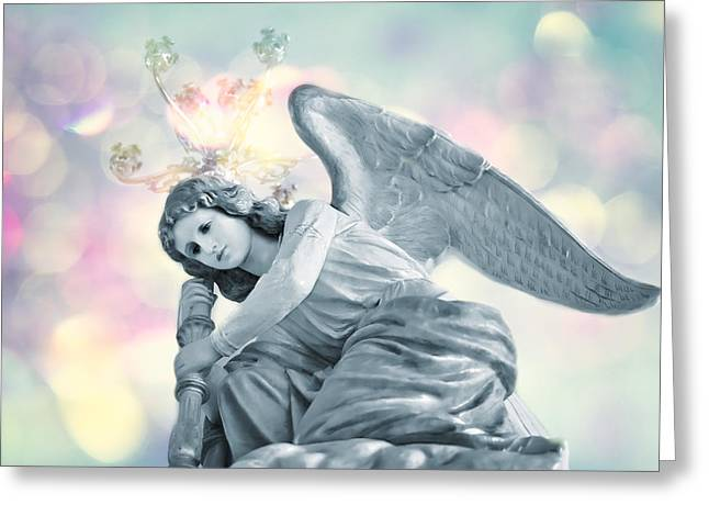 Guardian Angel Greeting Cards - He will give His angels charge of you . . . Greeting Card by Bonnie Barry