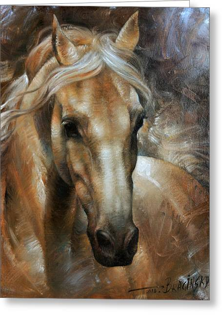 Horse Prints Greeting Cards - Head Horse 2 Greeting Card by Arthur Braginsky