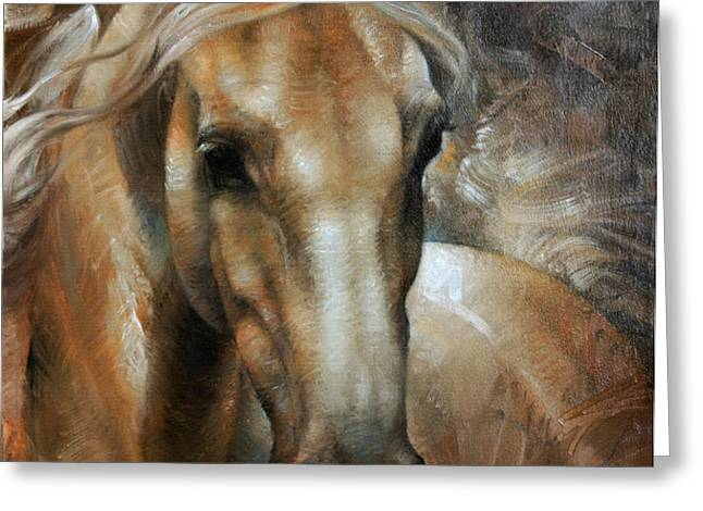 Head Horse 2 Greeting Card by Arthur Braginsky