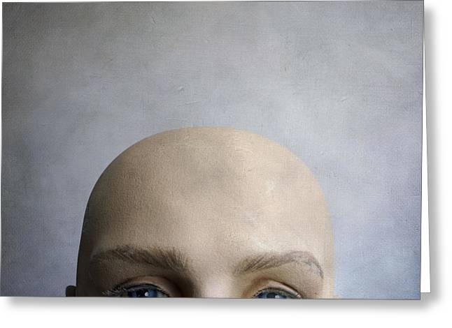 Pensively Greeting Cards - Head of a dummy. Greeting Card by Bernard Jaubert