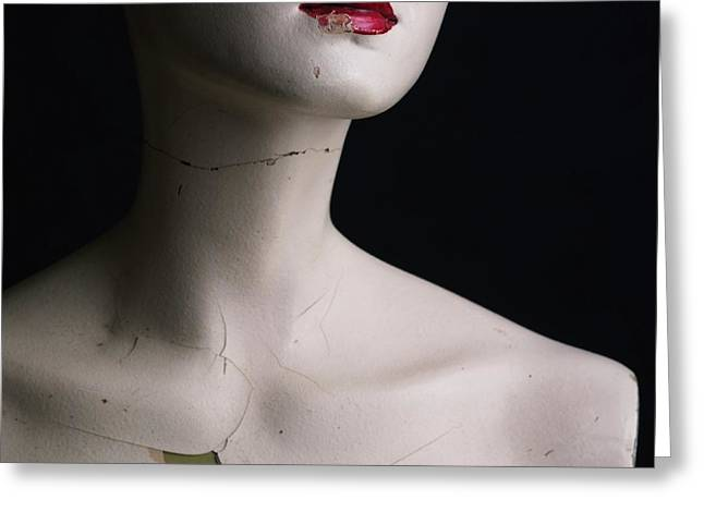 Mannequin Greeting Cards - Head of dummy Greeting Card by Bernard Jaubert
