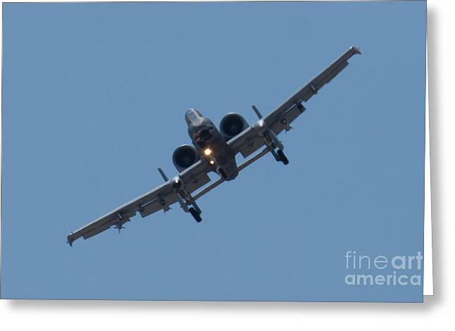 Head On Ft Af 78 0597 A 10 Thunderbolt II Greeting Card by Henry Plumley Jr