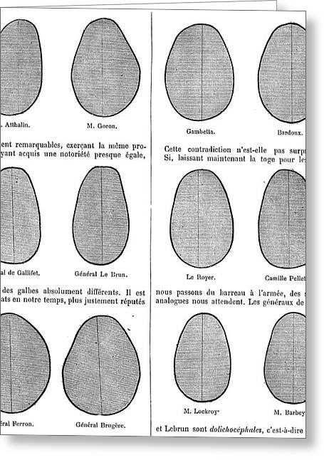 Annual Volume Greeting Cards - Head Shape Variation, 19th Century Greeting Card by