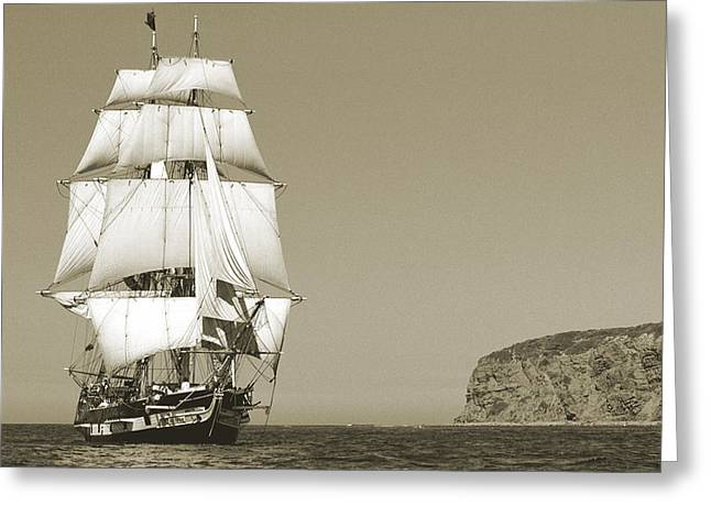 Tall Ships Greeting Cards - Heading Home Greeting Card by Cliff Wassmann