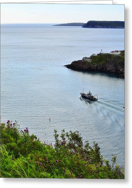 Amherst Greeting Cards - Heading out to sea Greeting Card by Steve Hurt