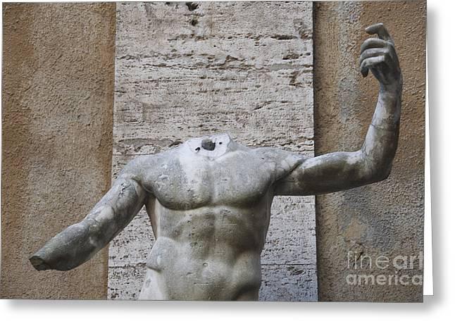 Headless Greeting Cards - Headless sculpture. Rome Greeting Card by Bernard Jaubert
