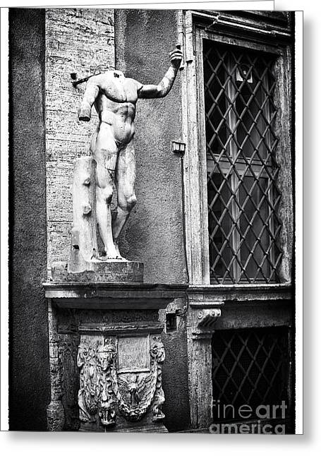 Roman Statue Greeting Cards - Headless Toast Greeting Card by John Rizzuto