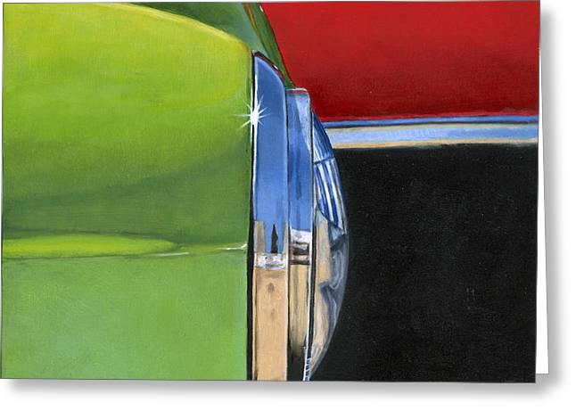 Photorealism Greeting Cards - Headlight Greeting Card by Rob De Vries