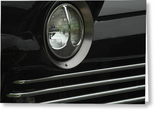 Car Grill Greeting Cards - Headlight Greeting Card by William Jones