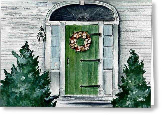 Maine Farms Paintings Greeting Cards - Heads Corner Farm Denmark Maine Greeting Card by Brenda Owen