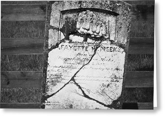Headstone of Lafayette Meeks Greeting Card by Teresa Mucha