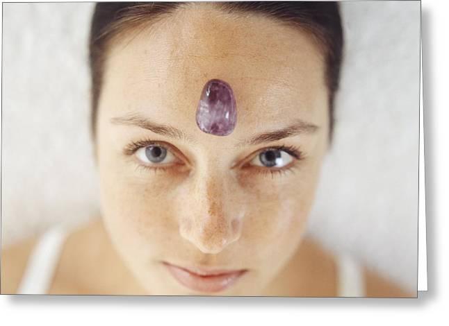 Crystal Healing Greeting Cards - Healing Crystal Greeting Card by Cristina Pedrazzini