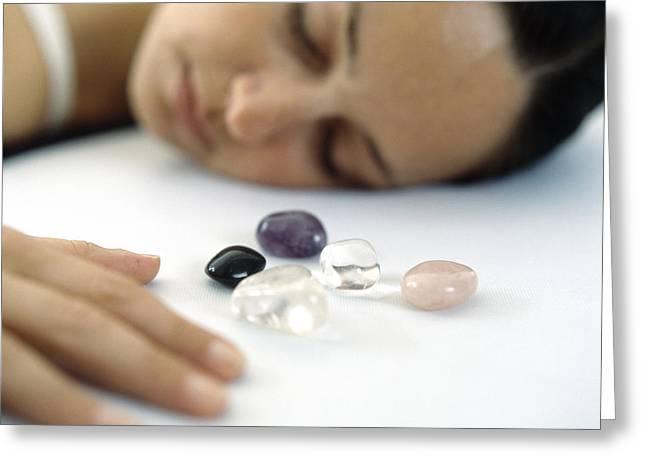 Crystal Healing Greeting Cards - Healing Crystals Greeting Card by Cristina Pedrazzini