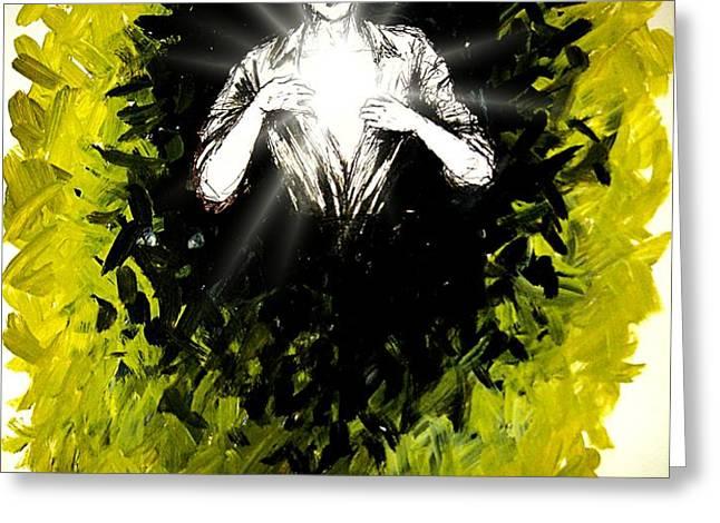 Healing Is In Himself Greeting Card by Paulo Zerbato