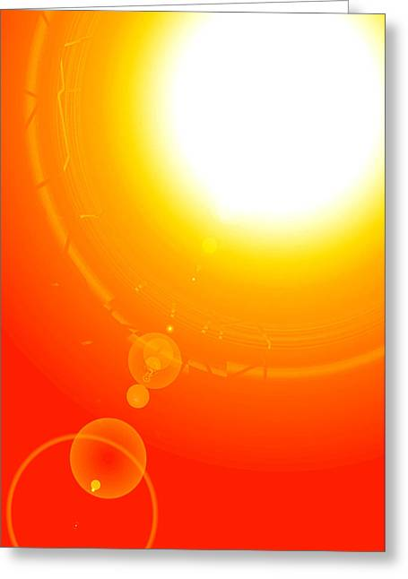 Svadhisthana Greeting Cards - Healing-Light No. 06 Greeting Card by Ramon Labusch