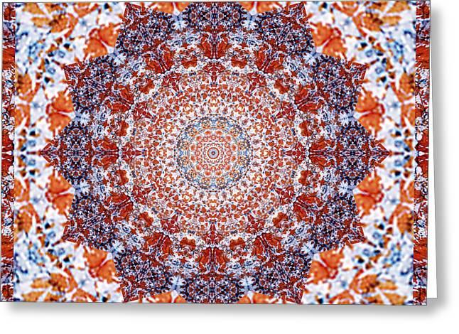 Close Up Photos Greeting Cards - Healing Mandala 2 Greeting Card by Bell And Todd