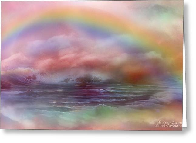 Mood Art Greeting Cards - Healing Ocean Greeting Card by Carol Cavalaris