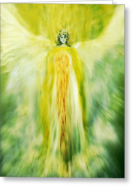 Empower Greeting Cards - Healing With Golden Light Greeting Card by Alma Yamazaki