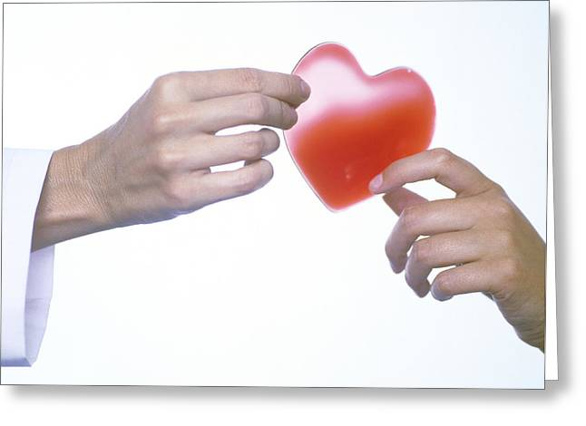 Healthy Heart, Conceptual Image Greeting Card by Cristina Pedrazzini