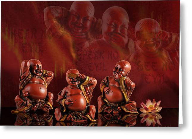 Hear No Evil Greeting Cards - Hear No Evil Greeting Card by Judi Quelland