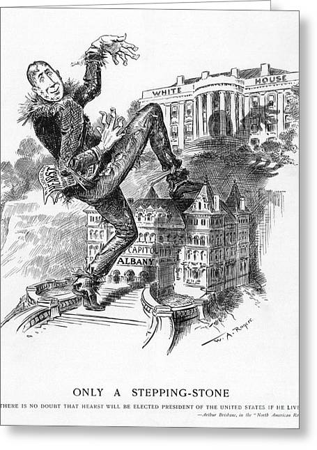 William Randolph Greeting Cards - Hearst Cartoon Greeting Card by Granger