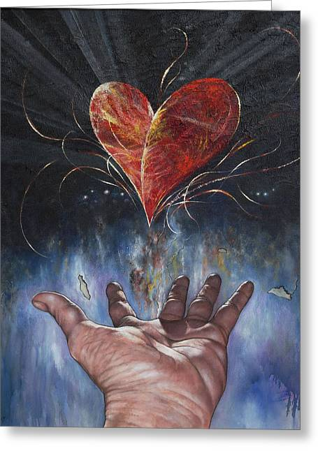 Heart And Soul Greeting Card by Jan Camerone