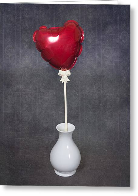 Red Wallpaper Greeting Cards - Heart Balloon Greeting Card by Joana Kruse