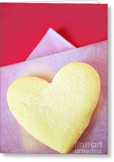 Crisp Greeting Cards - Heart Cookie  Greeting Card by HD Connelly