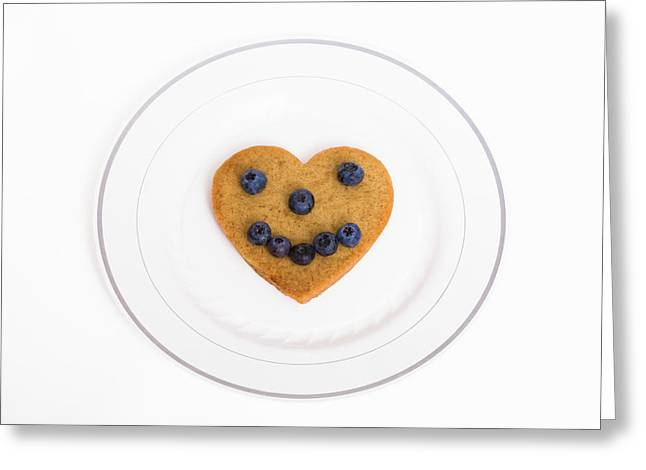 Plate Of Cookies Greeting Cards - Heart Healthy Pancake Greeting Card by Diane Macdonald