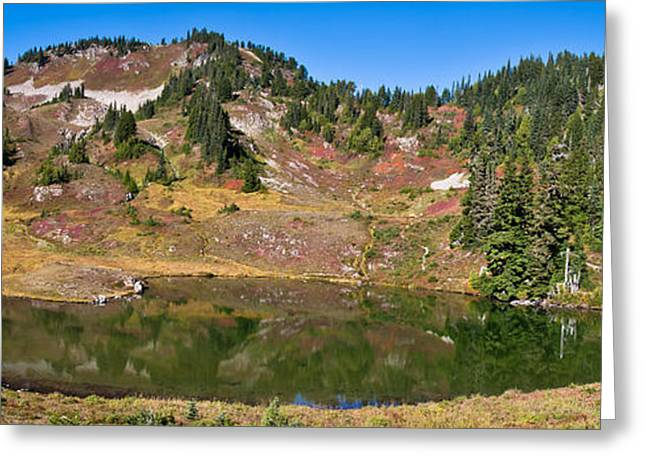 Heart Lake Greeting Cards - Heart lake in fall Greeting Card by Olivier Steiner