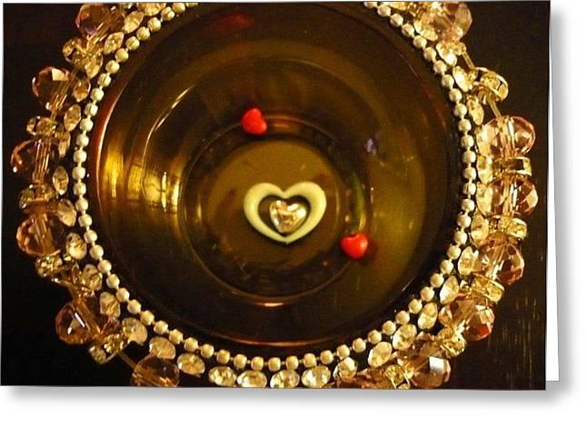 Heart Mandala Greeting Card by Debra Jacobson