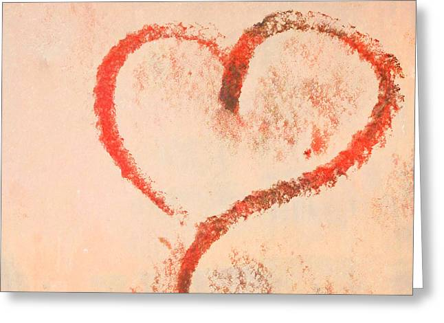 Hand Drawn Photographs Greeting Cards - Heart Greeting Card by Odd Jeppesen