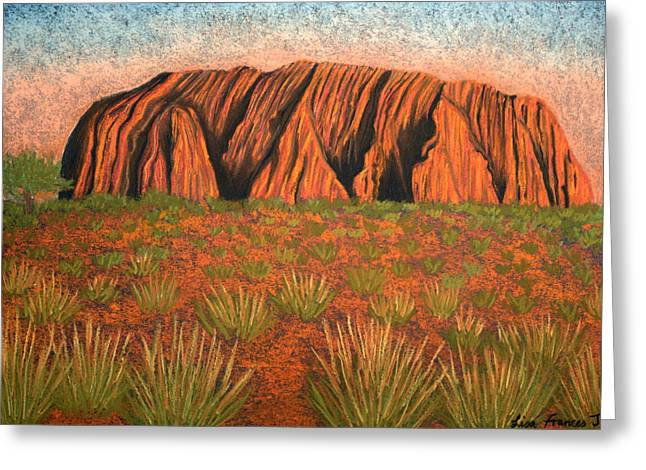 Sacred Pastels Greeting Cards - Heart of Australia Greeting Card by Lisa Frances Judd
