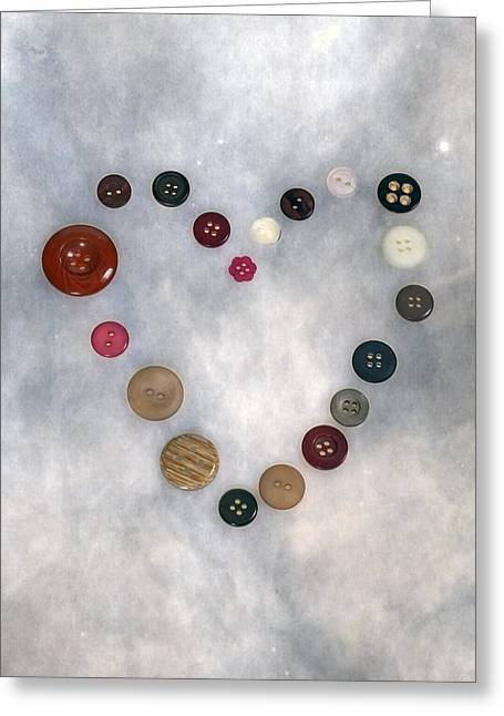Buttons Greeting Cards - Heart Of Buttons Greeting Card by Joana Kruse