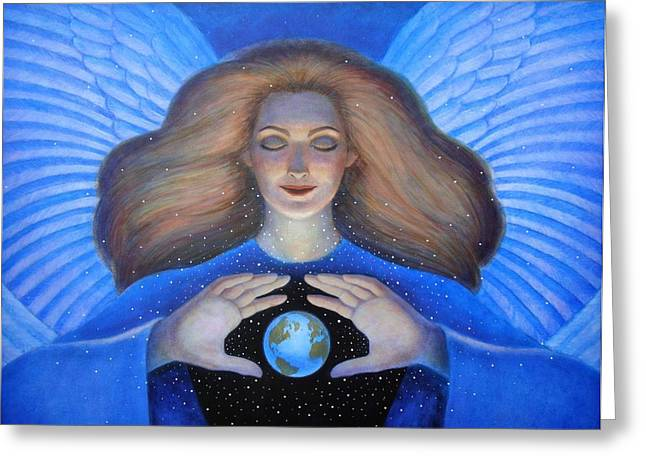 Goddess Art Greeting Cards - Heart of Creation Greeting Card by Sue Halstenberg