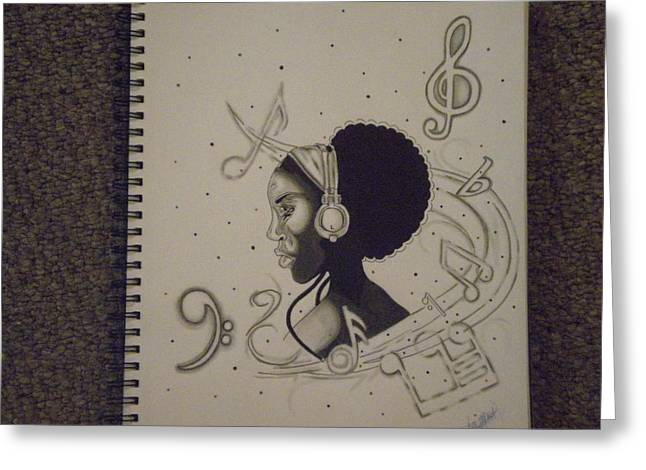 Ambition Greeting Cards - Heart Of Music Greeting Card by Mr Ambition
