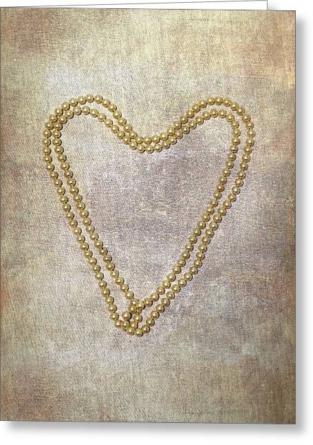 Heart Of Pearls Greeting Card by Joana Kruse