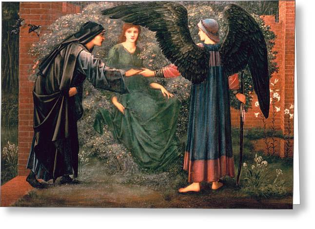 1833 Greeting Cards - Heart of the Rose Greeting Card by Sir Edward Burne-Jones