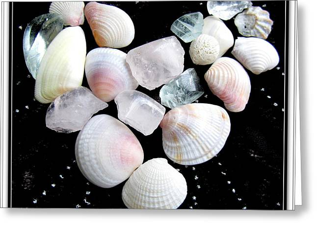 Beach Theme Posters Greeting Cards - Heart Of Treasures Greeting Card by Danielle  Parent