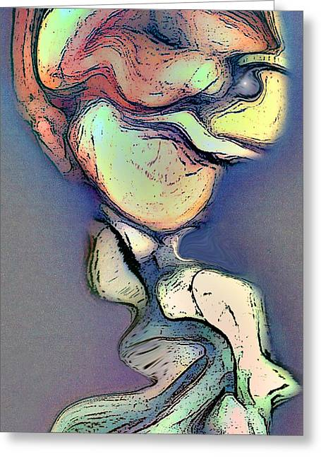 Visionary Artist Greeting Cards - Heart on the Head Greeting Card by George  Page