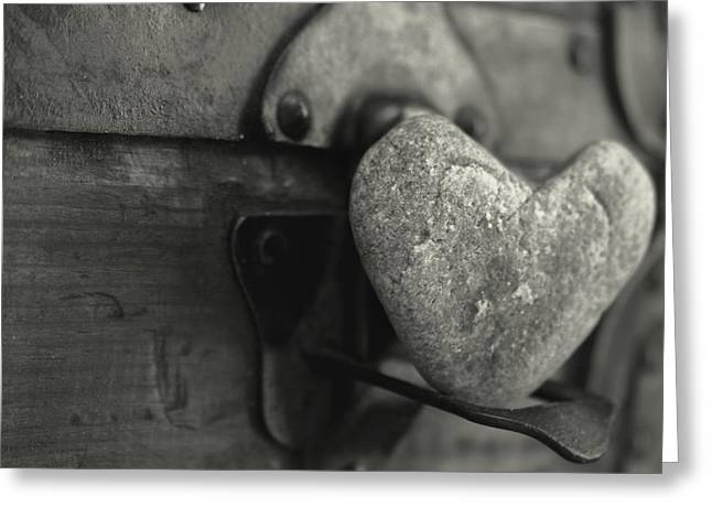 Mother And Child Greeting Cards Greeting Cards - Heart Rock Greeting Card by Toni Hopper
