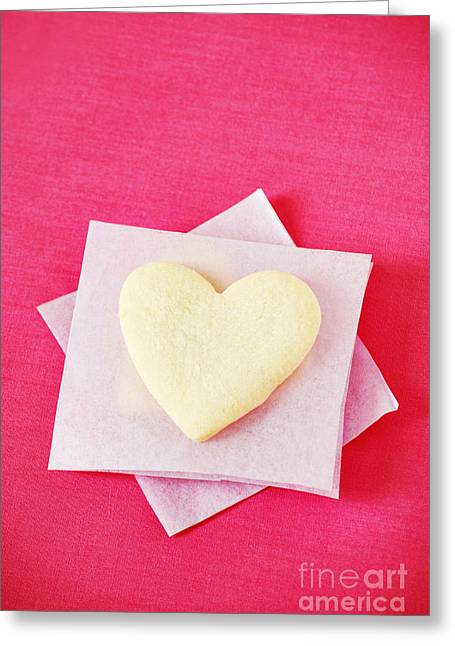 Crisp Greeting Cards - Heart-shaped Cookie Greeting Card by HD Connelly