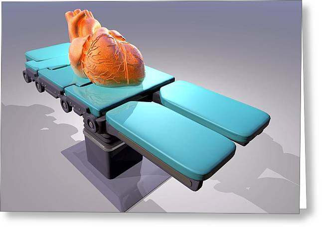 Heart Disease Greeting Cards - Heart Surgery, Conceptual Artwork Greeting Card by Laguna Design
