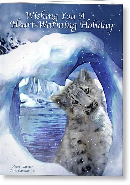Christmas Greeting Mixed Media Greeting Cards - Heart Warmer Card Greeting Card by Carol Cavalaris